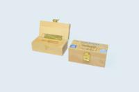 Boîte outillage en hêtre lamellé-collé usiné dans la masse, impression numérique.