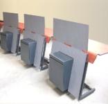Mobilier technique pour salle de contrôle, compact HPL postformé.