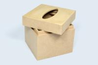 Carcasse bois pour boîte à mouchoirs, réalisée en folding bois.