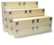 Coffrets bois renforcés pour la protection de l'outillage et de l'instrumentation.