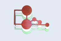 Eléments de structure pour mobilier contemporain en compact HPL (ép.13mm).