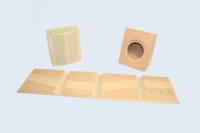 Deux petites enceintes « Public Address » réalisées à partir d'un cube folding. MDF hydrofuge.