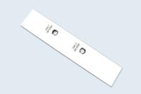 Face avant pour module électronique. Compact HPL usiné et gravure mécanique.