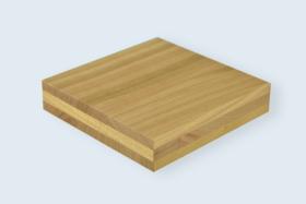Panneau en bois massif 3-plis, Merisier.