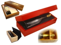 Packaging et coffrets VIP pour vins et spiritueux.