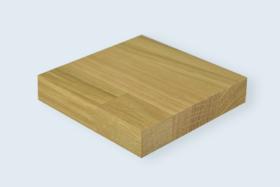 Panneau en bois massif 1-pli, Chêne abouté.