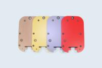 Parois de boîtier électronique destinées au montage de composants. Stratifié compact ép.3mm.