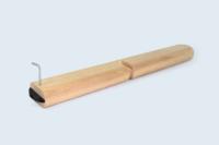 Pièce de meuble d'agencement. Chêne massif contrecollé, assemblage par Lamello Clamex.