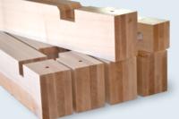 Pièces de calage longueur 1,5m. Emballage industriel. Hêtre massif contrecollé.