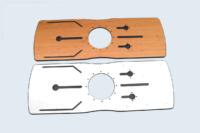 Pièces usinées, grand choix de décors possibles (unis, tons bois, aspects matière).