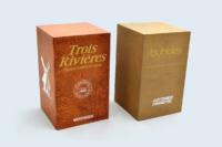 Rappels de marque, cubes à cinq faces avec sérigraphie.
