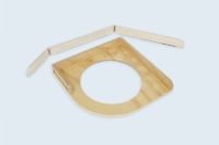 Support de ballon en CP hêtre, réalisation de la ceinture en folding.