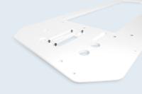 Usinage de précision du compact HPL, fourniture et pose d'inserts spéciaux.